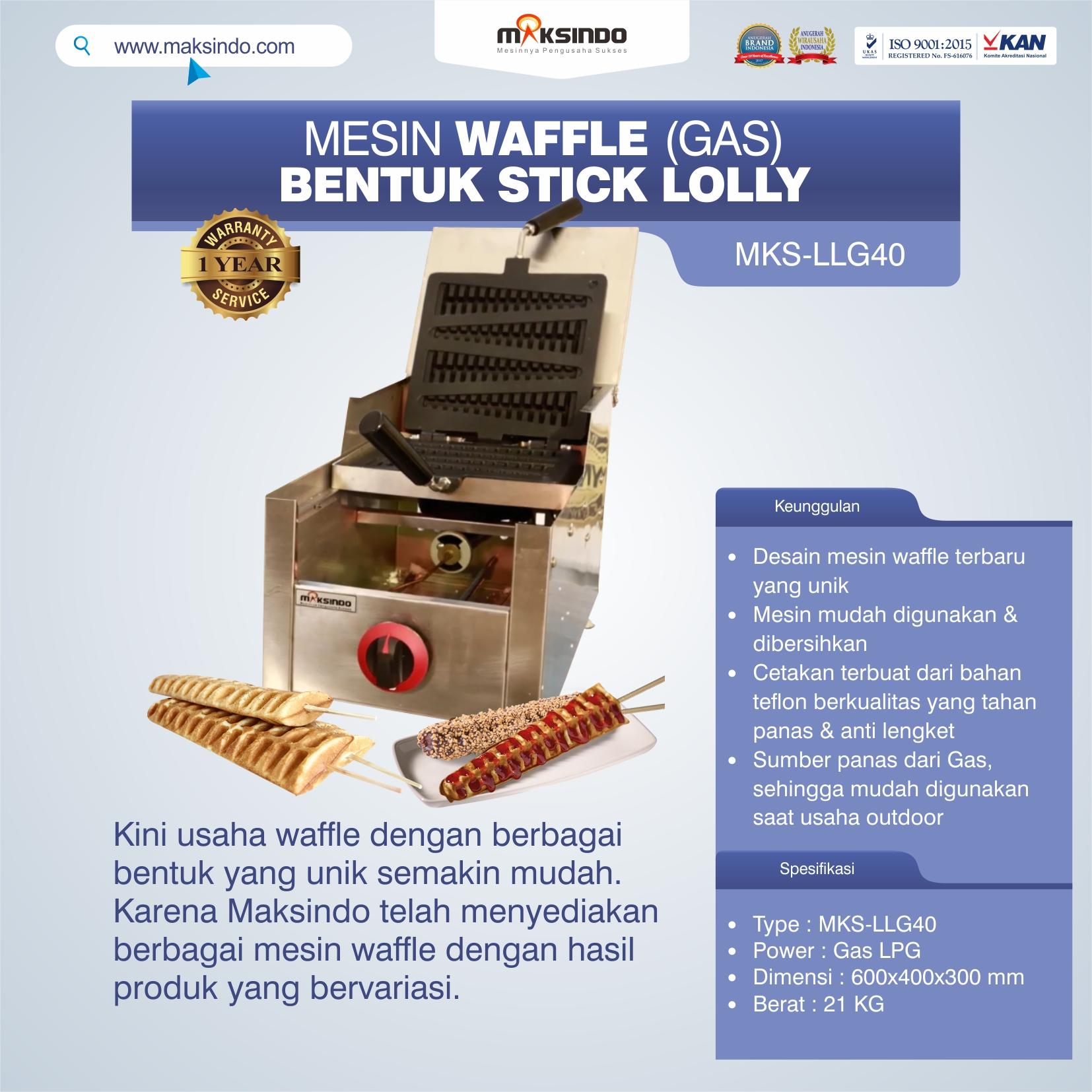 Mesin Waffle Bentuk Stick Lolly (Gas) MKS-LLG40