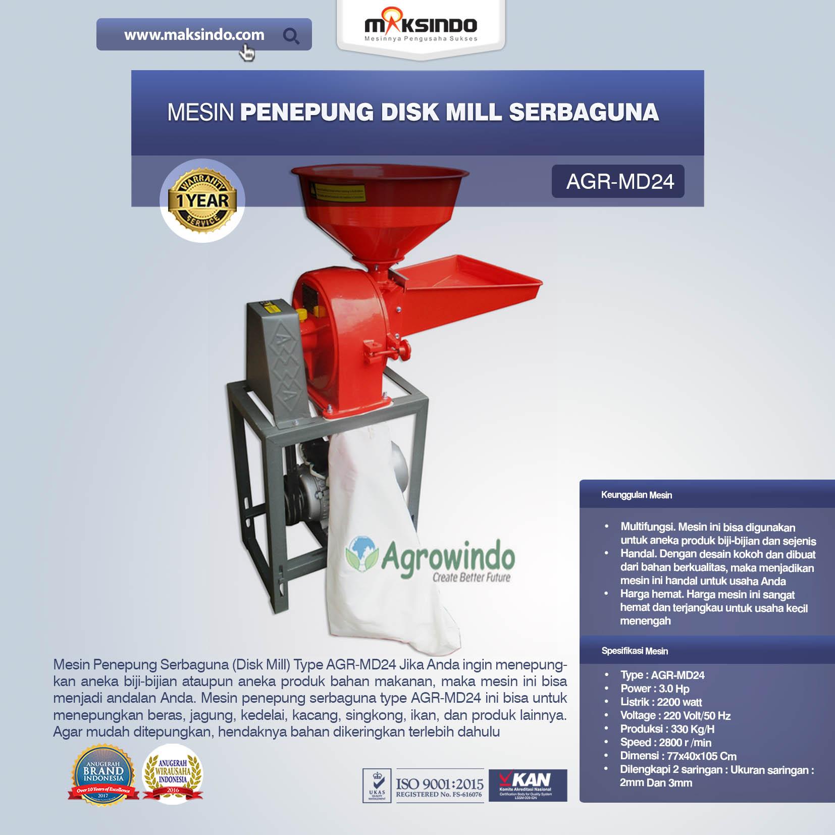 Penepung Disk Mill Serbaguna (AGR-MD24)