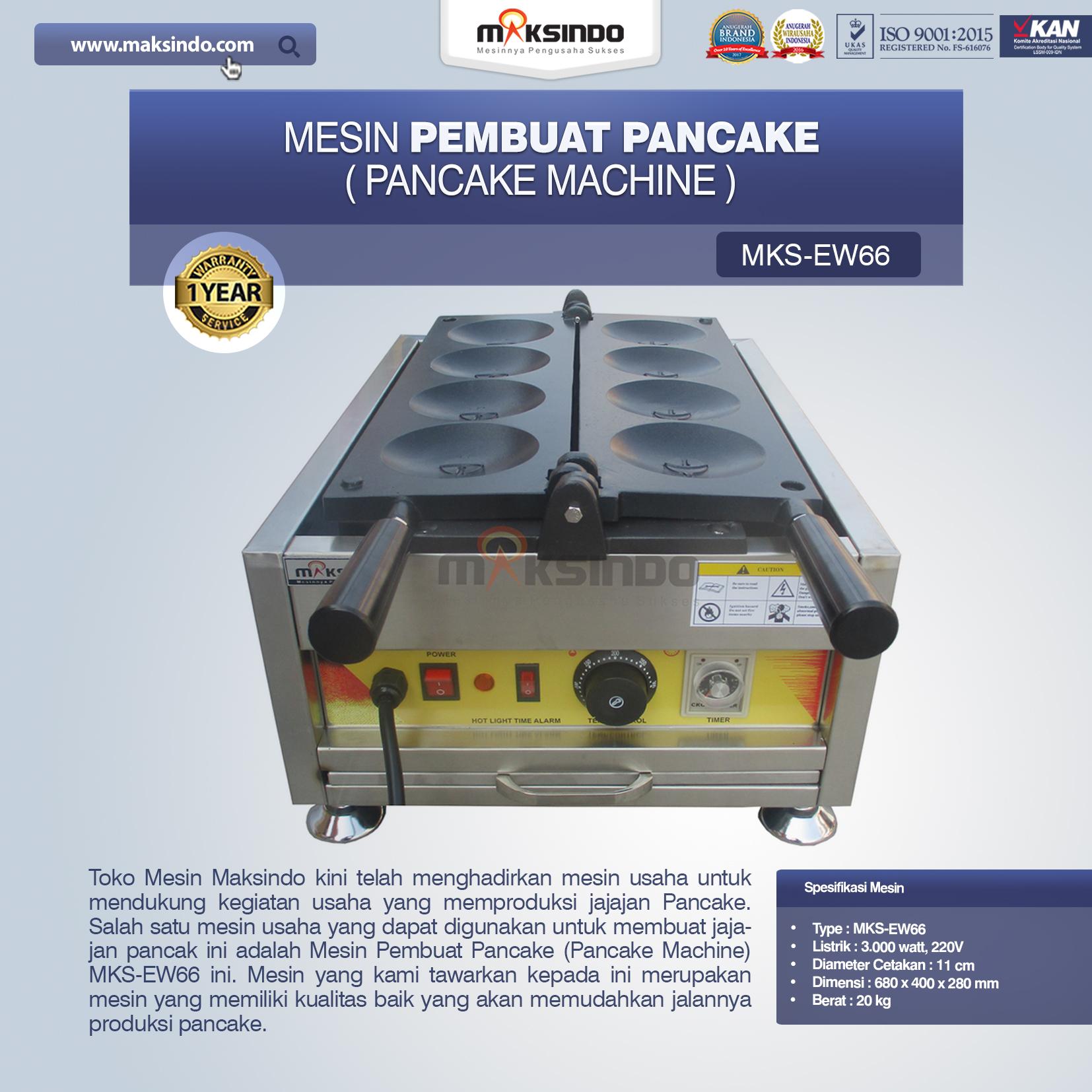 Mesin Pembuat Pancake (Pancake Machine) MKS-EW66