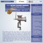 Alat Giling Daging Manual (Iron)