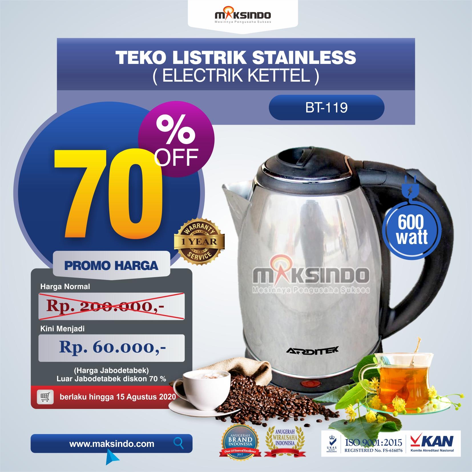 Teko Listrik Stainless (Electrik Kettel) BT-119