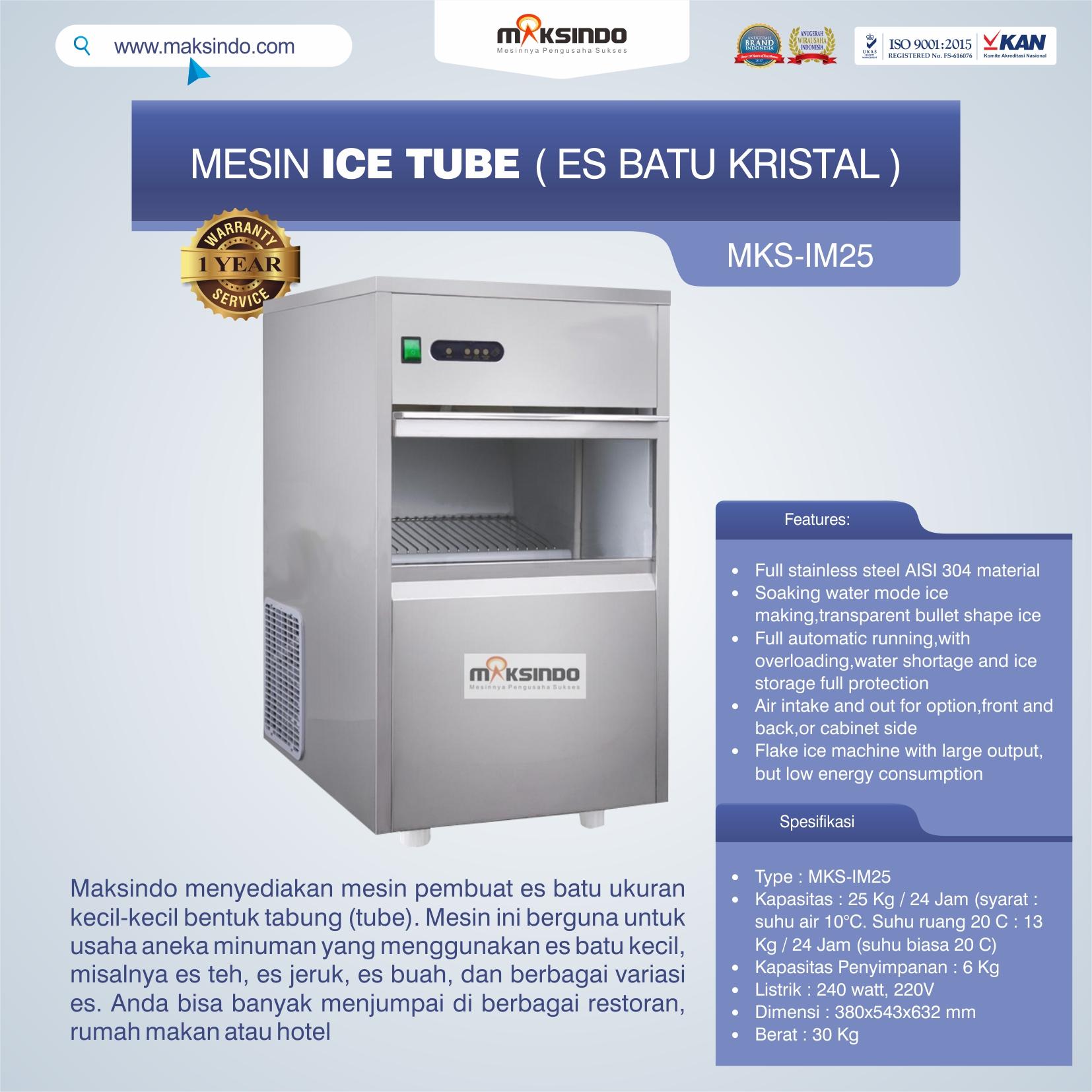 Mesin Ice Tube (Es Batu Kristal)