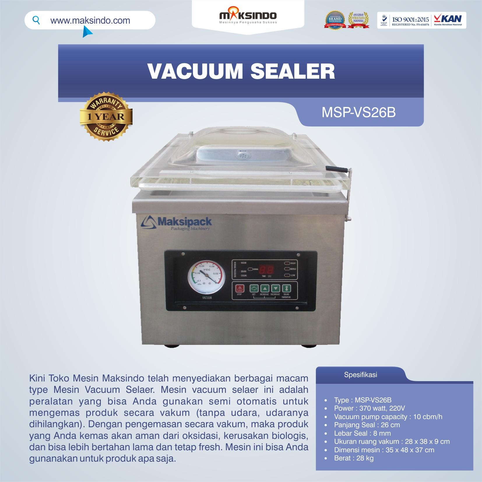 Vacuum Sealer MSP-VS26B
