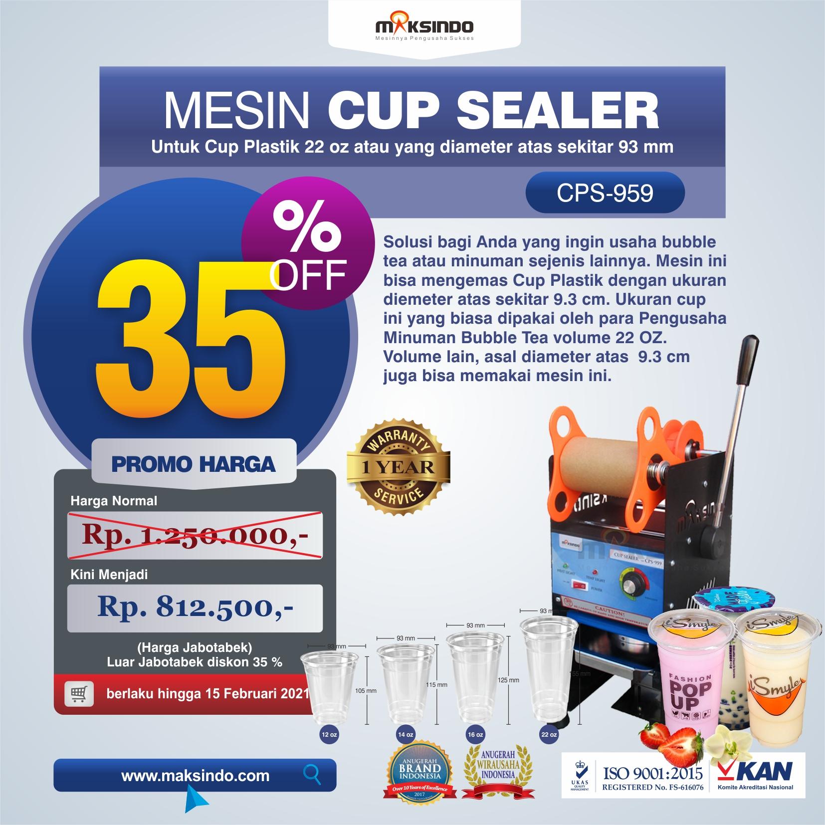 Mesin Cup Sealer CPS-959