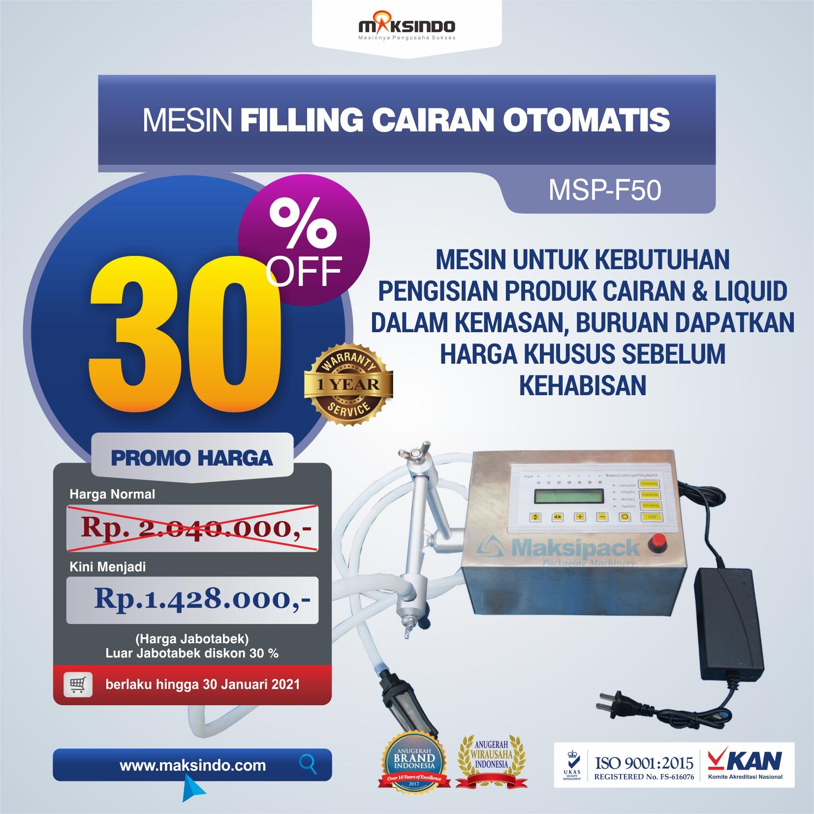 Mesin Filling Cairan Otomatis MSP-F50
