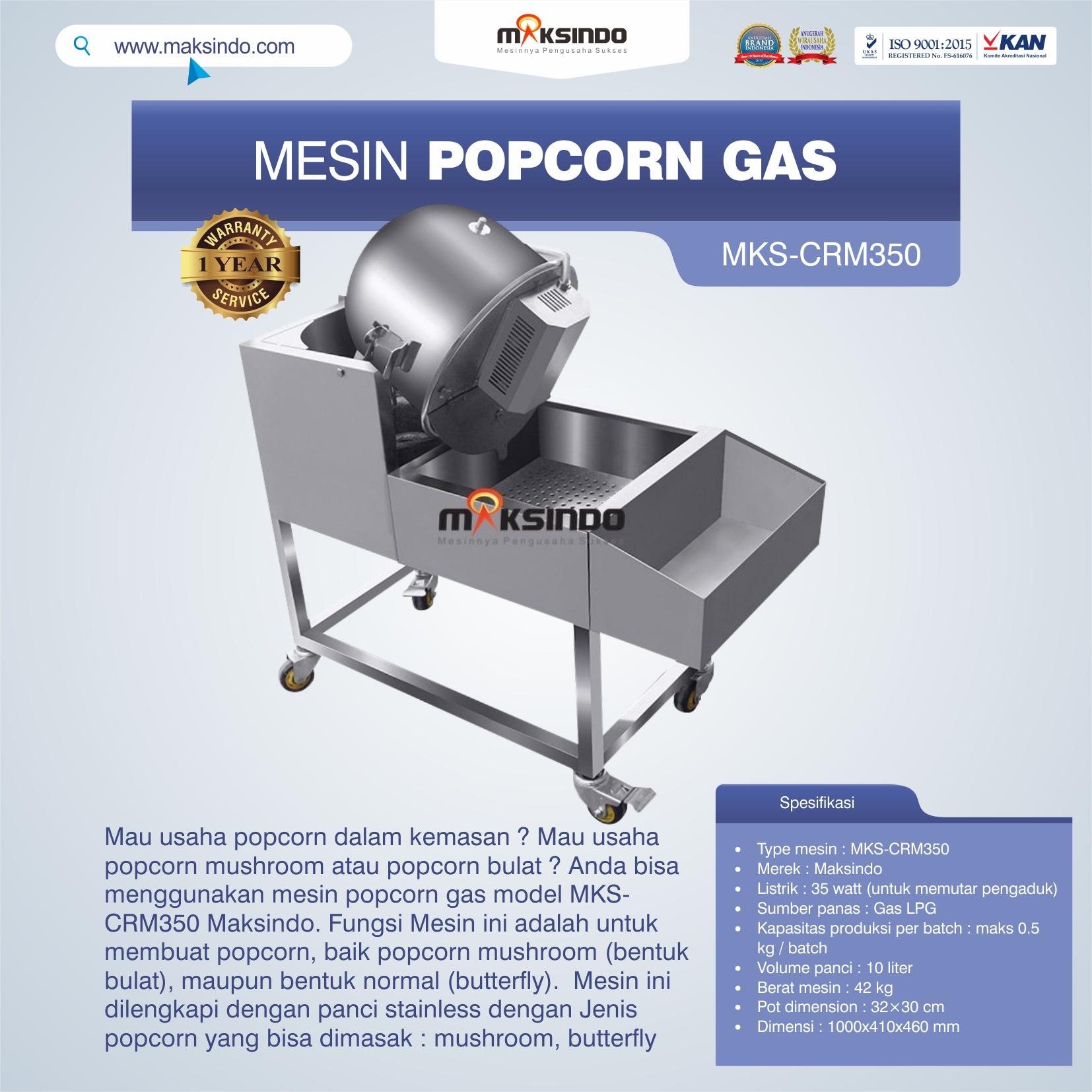 Mesin Popcorn Gas Model MKS-CRM350